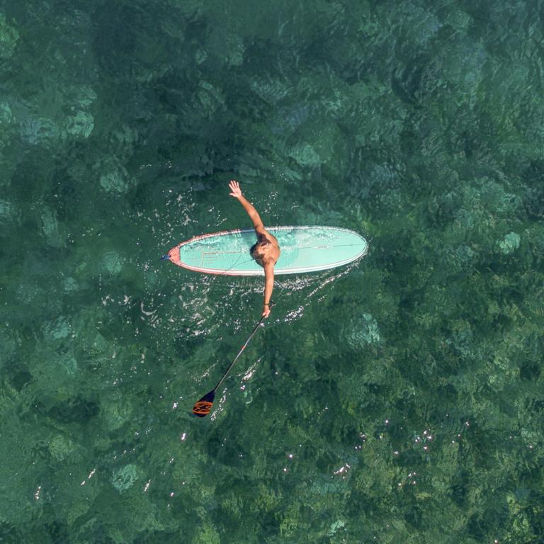 Stand up paddle en mer, plage du bouil à Longeville sur mer